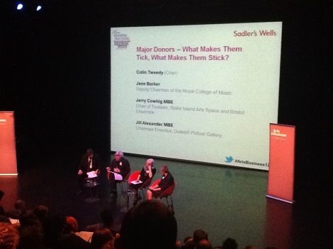 Final panel at the Arts & Business Fundraising Symposium