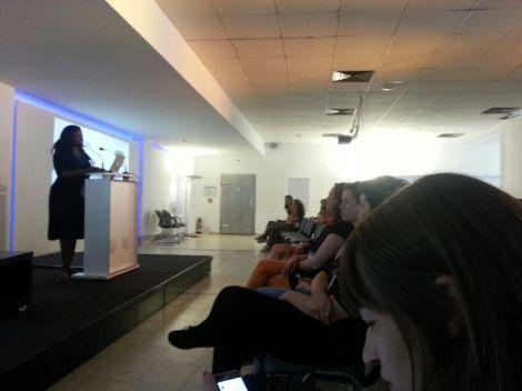 Me giving my first ever keynote in Berlin at GeekGirlMeetup.de