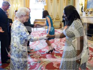 HRH Queen Elizabeth and Anne-Marie Imafidon